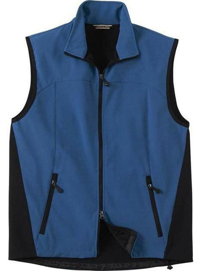 North End-Soft Shell Performance Vest-S-Regatta Blue-Thread Logic