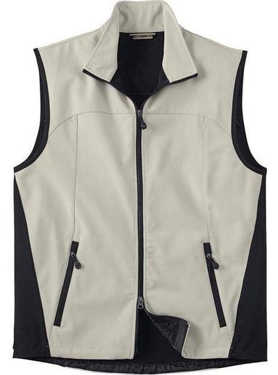 North End-Soft Shell Performance Vest-S-Stone-Thread Logic