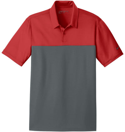 NIKE Golf Dri-Fit Colorblock Micro Pique Polo-M-Varsity Red/Anthracite-Thread Logic
