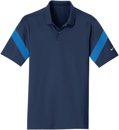 NIKE Golf Dri-Fit Commander Polo-S-Midnight Navy/Photo Blue-Thread Logic