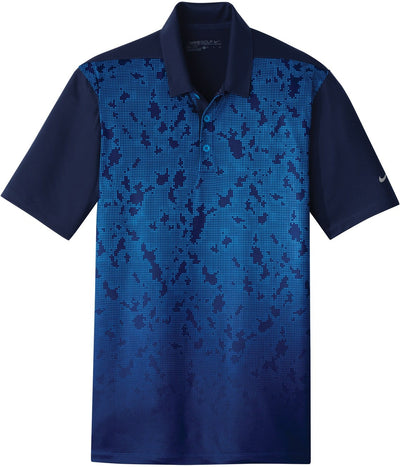 NIKE Golf Dri-Fit Mobility Camo Polo-S-Midnight Navy/Photo Blue-Thread Logic