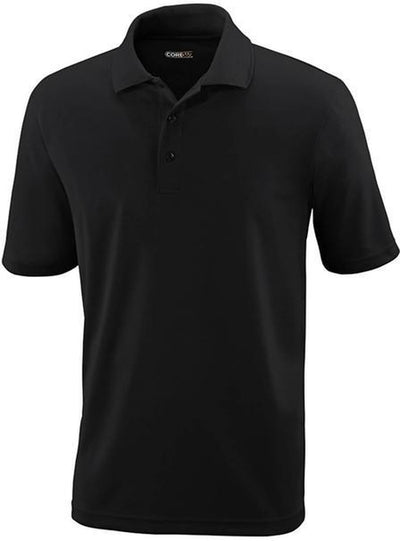 CORE365-Tall Performance Pique Polo Shirt-LT-Black-Thread Logic