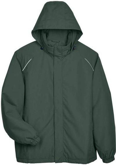 CORE365-Brisk Insulated Jacket-S-Forest Green-Thread Logic