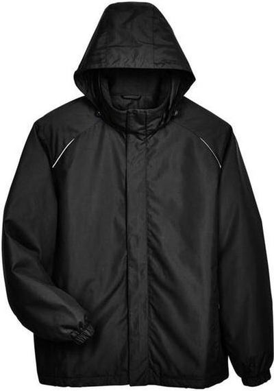 CORE365-Tall Brisk Insulated Jacket-LT-Black-Thread Logic