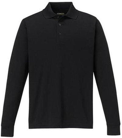 CORE365-Pinnacle Performance Long-Sleeve Pique Polo-S-Black-Thread Logic