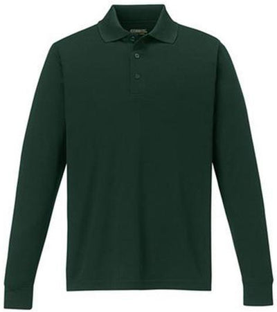 CORE365-Pinnacle Performance Long-Sleeve Pique Polo-S-Forest Green-Thread Logic