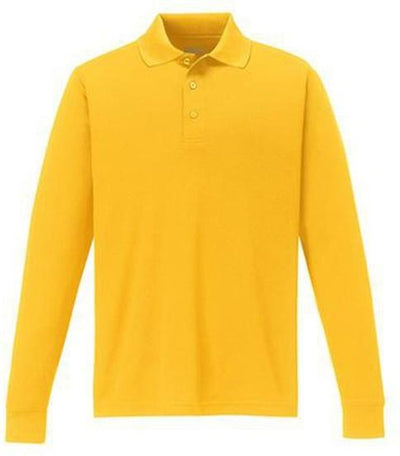 CORE365-Pinnacle Performance Long-Sleeve Pique Polo-S-Campus Gold-Thread Logic