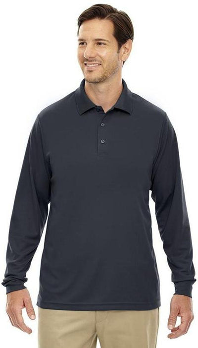 CORE365-Pinnacle Performance Long-Sleeve Pique Polo-Thread Logic no-logo