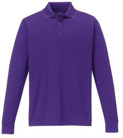 CORE365-Pinnacle Performance Long-Sleeve Pique Polo-S-Campus Purple-Thread Logic