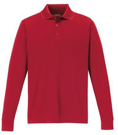 CORE365-Pinnacle Performance Long-Sleeve Pique Polo-S-Classic Red-Thread Logic
