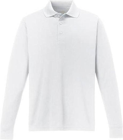 CORE365-Pinnacle Performance Long-Sleeve Pique Polo-S-White-Thread Logic