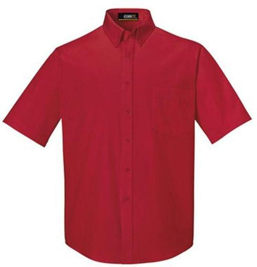 CORE365-Optimum Short-Sleeve Twill Shirt-S-Classic Red-Thread Logic