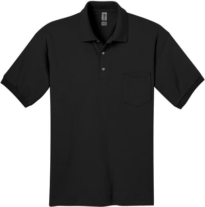 Gildan-DryBlend Jersey Polo with Pocket-S-Black-Thread Logic