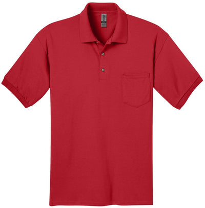 Gildan-DryBlend Jersey Polo with Pocket-S-Red-Thread Logic