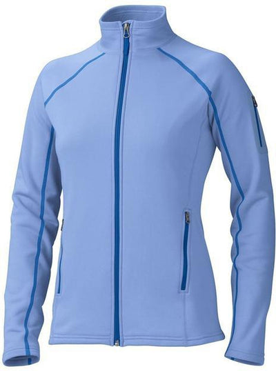 Marmot Ladies Stretch Fleece Jacket-XS-Blue Moon-Thread Logic