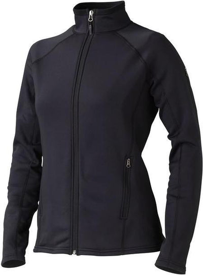 Marmot Ladies Stretch Fleece Jacket-XS-Black-Thread Logic no-logo