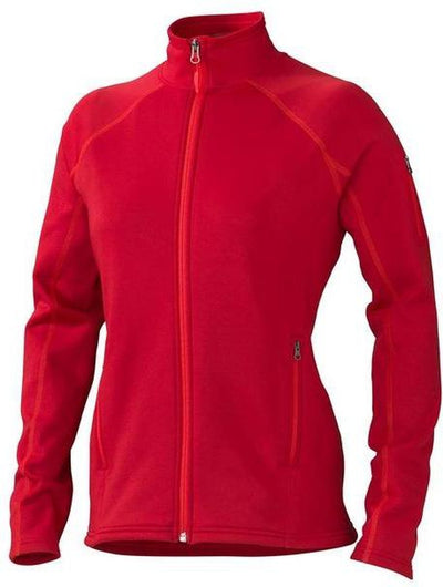 Marmot Ladies Stretch Fleece Jacket-XS-Team Red-Thread Logic