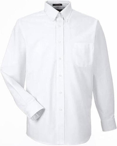 UltraClub-Classic Wrinkle Free Oxford-S-White-Thread Logic