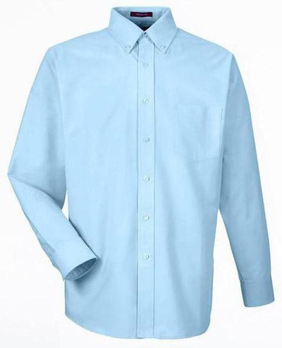 UltraClub-Classic Wrinkle Free Oxford-S-Light Blue-Thread Logic