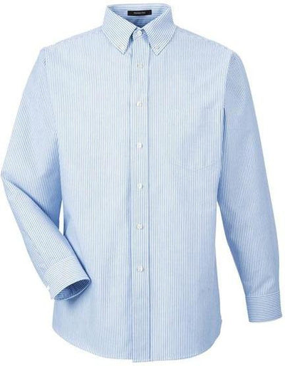 UltraClub-Classic Wrinkle Free Oxford-S-Blue White-Thread Logic