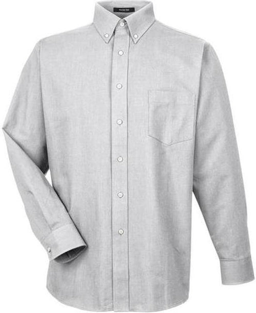 UltraClub-Tall-Classic Wrinkle-Free Oxford-XLT-Charcoal-Thread Logic