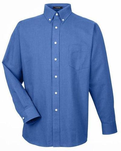UltraClub-Tall-Classic Wrinkle-Free Oxford-XLT-French Blue-Thread Logic