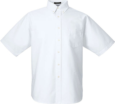 UltraClub Classic Wrinkle-Resistant Short-Sleeve Oxford