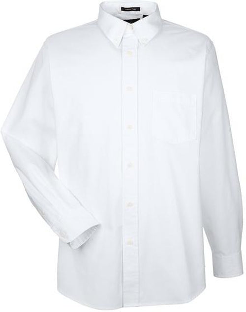 UltraClub-Whisper Twill Shirt-S-White-Thread Logic