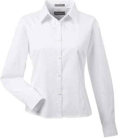 UltraClub-Ladies Whisper Twill-XS-White-Thread Logic