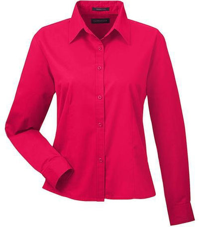 UltraClub-Ladies Whisper Twill-XS-Red-Thread Logic