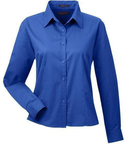 UltraClub-Ladies Whisper Twill-XS-Royal-Thread Logic
