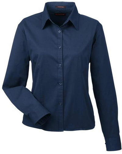 UltraClub-Ladies Whisper Twill-XS-Navy-Thread Logic