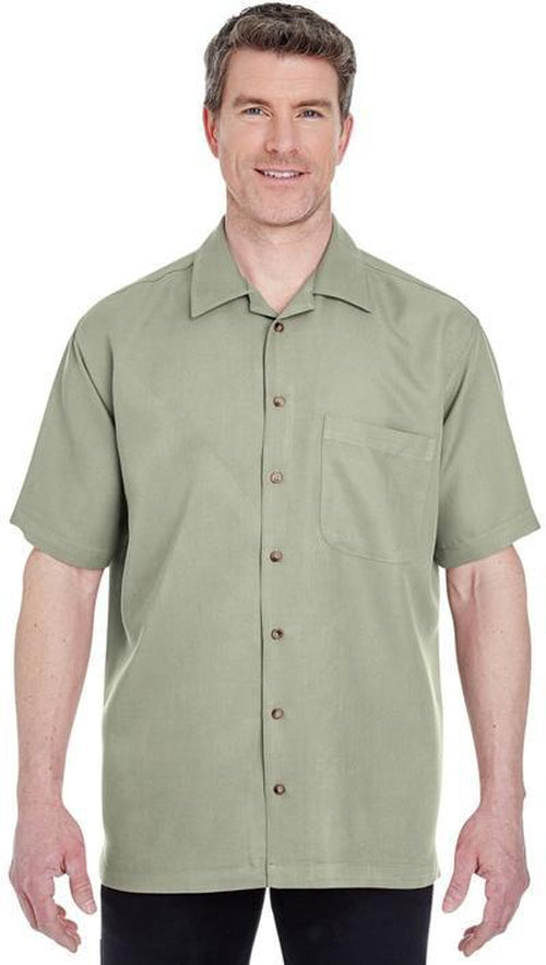 UltraClub-Cabana Breeze Camp Shirt-S-Island Blue-Thread Logic