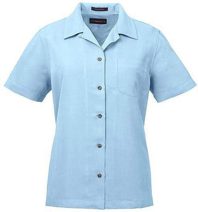 UltraClub-Ladies Cabana Breeze Camp Shirt-XS-Island Blue-Thread Logic