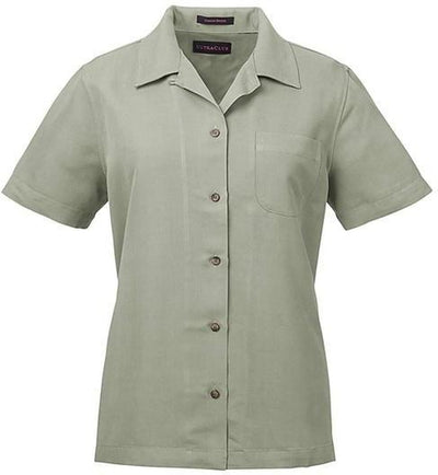 UltraClub-Ladies Cabana Breeze Camp Shirt-XS-Sage Green-Thread Logic