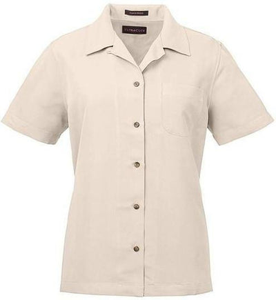 UltraClub-Ladies Cabana Breeze Camp Shirt-XS-Stone-Thread Logic