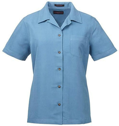 UltraClub-Ladies Cabana Breeze Camp Shirt-XS-Wedgewood-Thread Logic