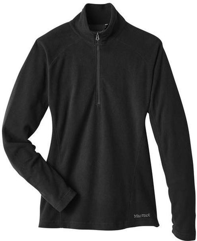 Marmot Ladies Rocklin Fleece Half-Zip-S-Black-Thread Logic