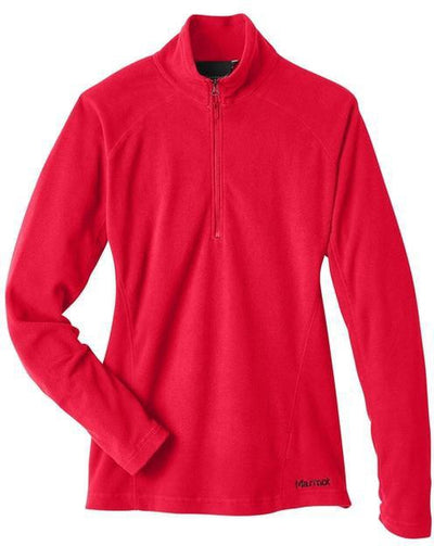 Marmot Ladies Rocklin Fleece Half-Zip-S-Team Red-Thread Logic