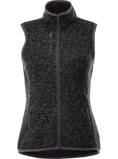 Elevate-Ladies FONTAINE Knit Vest-XS-Black Smoke Heather-Thread Logic