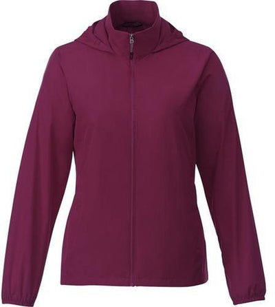 Elevate-TOBA Ladies Packable Jacket-S-Maroon-Thread Logic