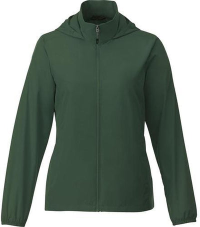 Elevate-TOBA Ladies Packable Jacket-S-Forest Green-Thread Logic