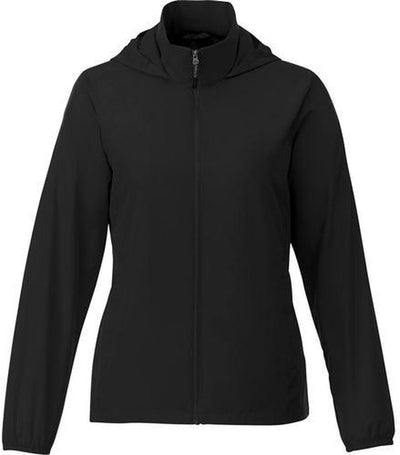 Elevate-TOBA Ladies Packable Jacket-S-Black-Thread Logic