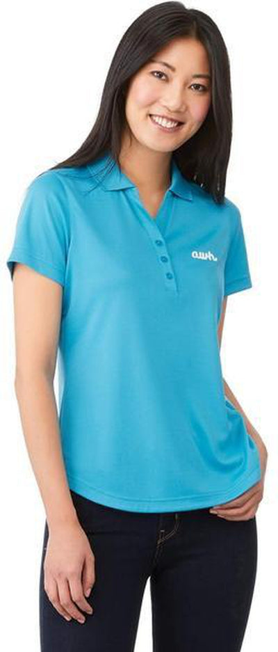 Elevate-Ladies OTIS Short Sleeve Polo-S-Aspen Blue-Thread Logic no-logo