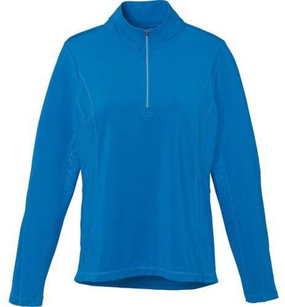 Elevate-Ladies CALTECH Knit Quarter Zip-XS-Olympic Blue-Thread Logic