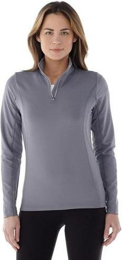 Elevate-Ladies CALTECH Knit Quarter Zip-Thread Logic no-logo