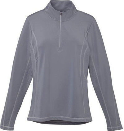 Elevate-Ladies CALTECH Knit Quarter Zip-XS-Steel Grey-Thread Logic