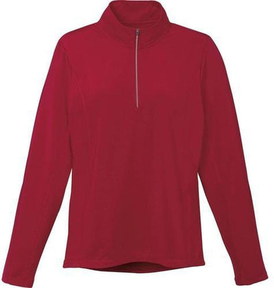 Elevate-Ladies CALTECH Knit Quarter Zip-XS-Vintage Red-Thread Logic