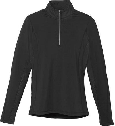 Elevate-Ladies CALTECH Knit Quarter Zip-XS-Black-Thread Logic