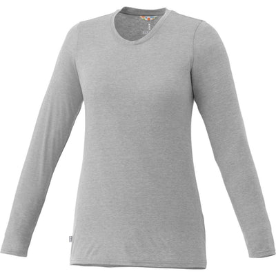 Elevate-Ladies HOLT Long Sleeve Tee-XS-Heather Grey-Thread Logic